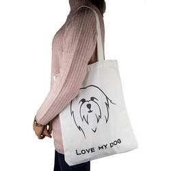 Shopper indkøbsnet - I Love My Dog