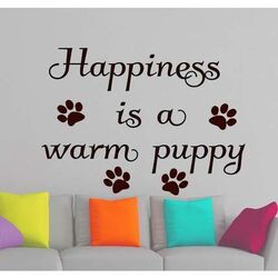 Wall Sticker | Happiness is a warm puppy