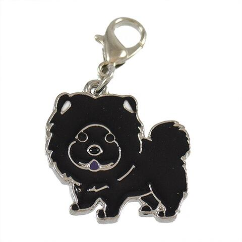 Charms m. hunderacer - Sort chow chow