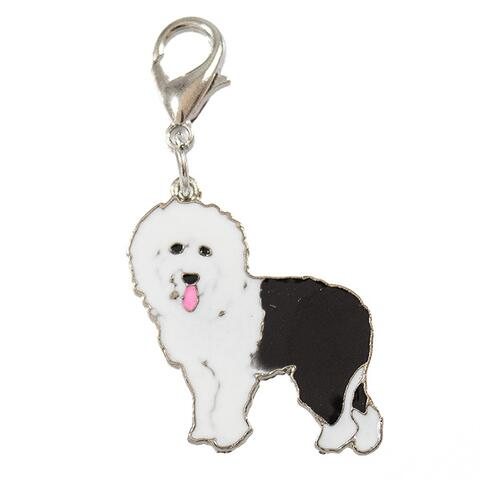 Hundecharms m. hunderacer - Old English Sheepdog