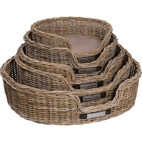 Happy House Rattan oval hundekurv