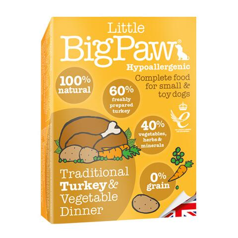 Traditional Turkey & Vegetable Dinner | Little Big Paw 150g