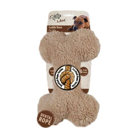 Lam Cuddle plush bone | All For Paws | Creme