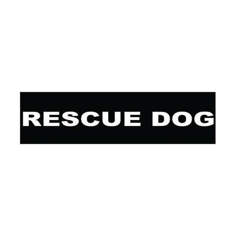 Velcro labels til Julius K9-sele - Rescue Dog | Hundesele