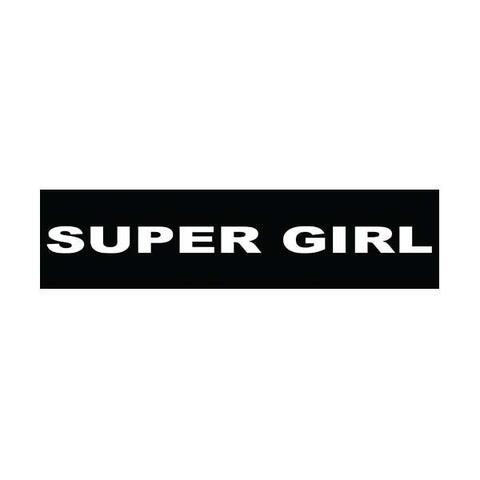 Velcro labels til Julius K9-sele - Super Girl | Hundesele