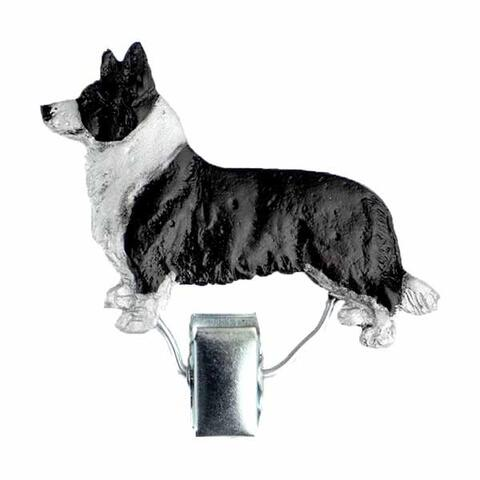 Nummerclips race: Welsh Corgi |Black/White neck