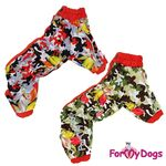 For My Dogs | regndragt m. blomstret camo OUTLET