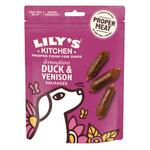 Scrumptious Duck & Venison Sausages | Lily's Kitchen